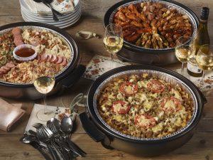 De hapjespan is een electrische pan die wij vullen met heerlijke vers-gekookte gerechten.